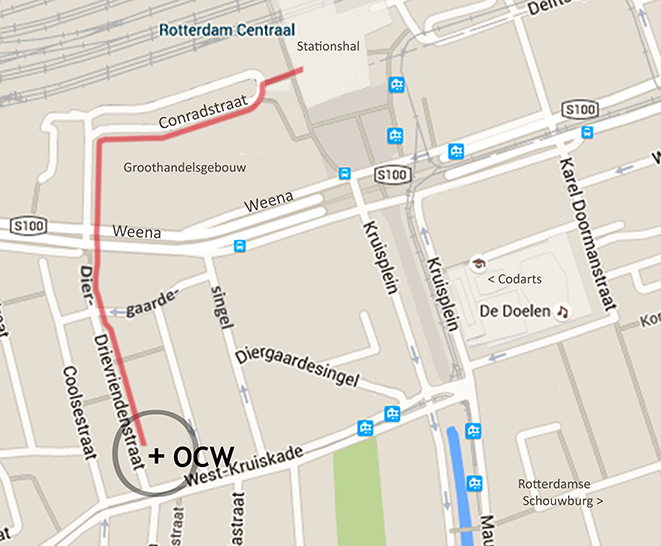 walking map rotterdam central-stage ocw